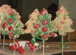 Rice Krispie Christmas Tree Pops by Tree Rice Krispie Treats