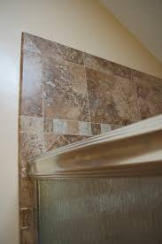 Tile Redi Niche Thinset by Cmh Builders Detail Of Shampoo Niche With Pencil Trim Bathroom