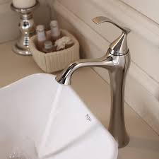 Kraus Vessel Sinks Combo by Faucet Com C Kcv 135 15000bn In Brushed Nickel By Kraus