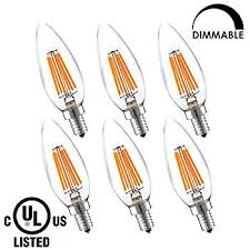 lightstory led candelabra bulb ca11 6w led chandelier bulb 60w