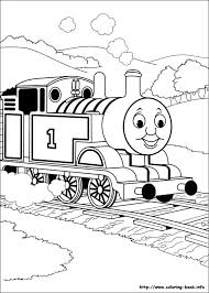Free Coloring Pages Of Thomas Tthe Tank Engine And Friends On Book