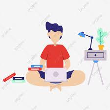 Laptop El Trabajo Ilustración Los Hombres Horas Extras