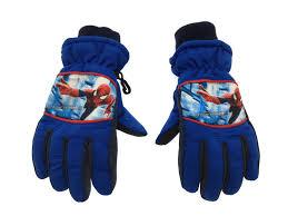 boys spiderman hat gloves set faux fur trapper warm ski gloves