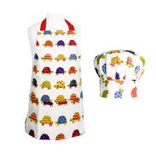 tablier de cuisine enfant ensemble 1 tablier 1 toque de cuisine pour enfant motifs tortues