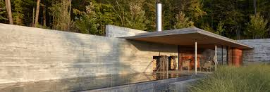 100 Concret Walls This Pool House Features Long BoardFormed E