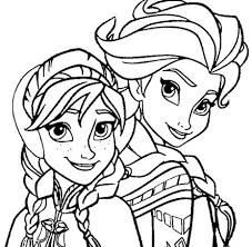 Free Download Elsa And Anna Coloring Pages For Page
