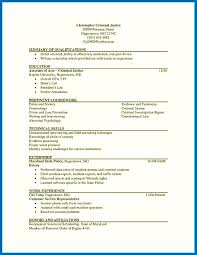 Criminal Justice Resume Skills Cover Letter Examples Sample