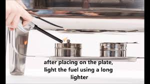 Sterno Candle Lamp Butane Fuel Cartridge by How To Use A Chafing Dish Youtube