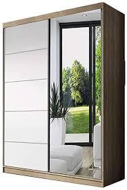 idzczak meble schwebetürenschrank neomi 05 mit spiegel modern klein kleiderschrank wohnzimmer schiebetüren sonoma weiß spiegel