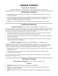 Sample Resume Executive Assi Cover Letter Examples Assistant