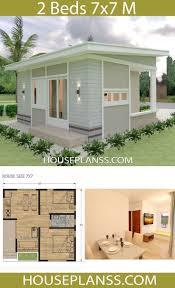 small house design plans 77 mit 2 schlafzimmern hauspläne