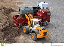 Liebherr Wheel Loader And MAN Dump Truck RC Models Editorial Stock ...
