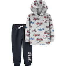 100 Fire Truck Pajamas Carters Toddler Boys Truck 2 Pc Hooded Top And Jogger Pants