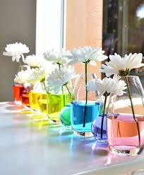 Spring Baby Shower Decorations Colorful Vases