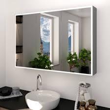 alu spiegelschrank nach maß mit led beleuchtung metal credo badspiegel shop