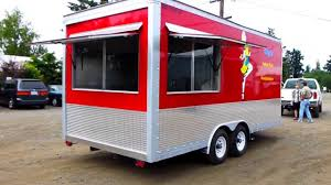 Custom Mobile 18ft Kitchen Concession Food Trailer - YouTube