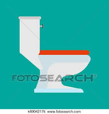 toilette seitenansicht vektor symbol badezimmer