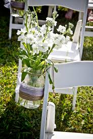 Maybe Hang Mason Jars On Every Other Row With A Few Flowers