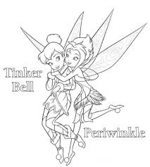 Periwinkle And Tinkerbell Coloring Page