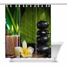 MKHERT Spa Decor Collection Candle Bamboo Flowers And Zen Basalt
