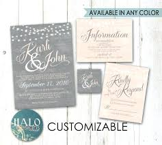Good Rustic Wedding Invitation Kits Or Grey Blush Invitations Kit Thank You Card Luxury