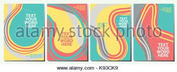 Minimalist Style Poster Brochure Magazi Set Of 4 Sweet Abstract Graphics For Background Or Covers Design In Minimal Simple