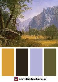 Albert Bierstadt Color Palette Yosemite Valley