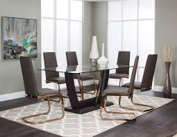 Ortanique Dining Room Furniture by Bentley Dark Oak Wood Taupe Pu 7pc Dining Room Set Kitchen