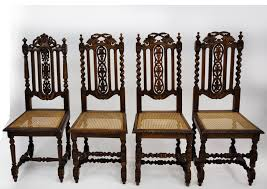 Antique English Jacobean Dining Chair Set Of 4 Barley Twist C.1900 ... Ten Piece Jacobean Style Ding Room Harvest Set Jacobean Style Ding Table Sahanhme Antique Jacobean 7piece Ding Set Wood Room Chairs Table Buffet China Superb Of 8 Oak Made In The Uk Jacobeanstyle Brixton Ldon Gumtree Style And Six Fniture Characteristics Collection Of Bluewhite China On Heavy Carved Oak With Rustic 132198 Cm Extending And 6 Revival Plank Top Trestle Six Chairs Oyster Coalville Leicestershire I Have A 1940s Vintage Solid Mahogany Room Set That English Chair 4 Barley Twist C1900