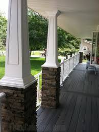 Faux Stone Column Wraps for Added Style