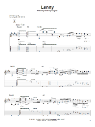 Lenny Guitar Tab By Stevie Ray Vaughan 55418