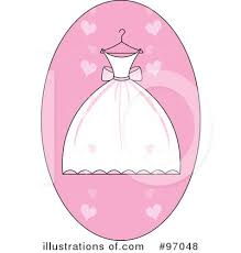 Royalty Free RF Wedding Dress Clipart Illustration by Pams Clipart Stock Sample