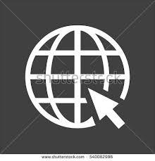Globe Web Icon Flat Vector White Stock Vector Shutterstock