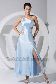 light sky blue one shoulder prom gown evening dress