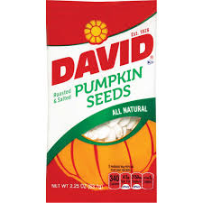 Roasted Shelled Pumpkin Seeds Nutrition by David Pumpkin Seeds Roasted U0026 Salted 2 25 Oz 12 Ct