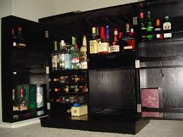 awesome dark liquor cabinet ikea made of wood with swivel door for