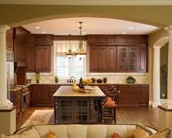 Kitchen Soffit Painting Ideas by Mahogany Wood Autumn Prestige Door Kitchen Soffit Decorating Ideas