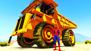 100 Dump Trucks Videos Truck Color Cars For Kids Spiderman Cartoon Fun For