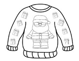 Ugly Sweater Coloring Pages
