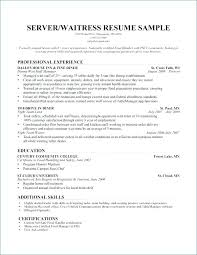 Restaurant Waiter Resume Sample Biology Coursework Exemplar Free Server Skills Examples