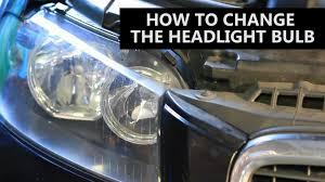 how to change a car headlight bulb