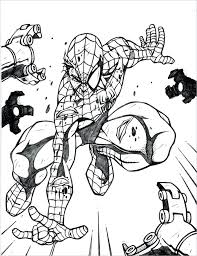Full Image For Spiderman Coloring Sheets Online Pages Games Free