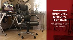 500 Lb Rated Office Chairs by Sky2839 Ergonomic High Back Executive Office Chair Youtube