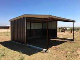 Loafing Shed Kits Texas by Custom Barns And Construction
