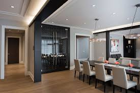 Custom Refrigerated Wine Cabinet Modern Style Dining Room