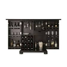 pulaski inscribed wine cabinet in black wine cabinets room