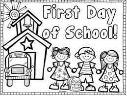 First Day Of School Coloring Book Page Middle Color Pages Educations