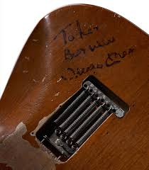 Signed By Mickey On The Guitar Back To Lenny Best Wishes Mantle