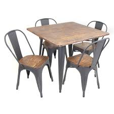 Industrial Dining Room Table And Chairs Invigorate Carbon ... Details About Set Of 5 Pcs Ding Table 4 Chairs Fniture Metal Glass Kitchen Room Breakfast 315 X 63 Rectangular Silver Indoor Outdoor 6 Stack By Flash Tarvola Black A 16 Liam 1 Tephra Alba Square Clear With Ashley 3025 60 Metalwood Hub Emsimply Bara 16m Walnut Signature Design By Besteneer With Magnificent And Ding Table Glass Overstock Alex Grey Counter Height