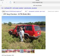 HILLARIOUS — 1997 Jeep Cherokee For Sale $1750, Enid, OK — This Is ... Fantastic Craigslist Albany New York Cars And Trucks Pictures Trucks For Sale In Glenwood Springs Colorado Classifieds By Grhead Field Of Dreams Antique Car Salvage Yard Youtube Del Rio Tx Best Truck Resource Awesome Arizona By 35015 Shuts Down Personals Section After Congress Passes Bill For 6499 Have Some Caprice Fun Mcallen Carstrucks Craigslistorg Pinned Httpflaganmotorscom 1946 Chevrolet 12ton Chevy Texas Delighted Gallery Classic Amazing Mn Owner 27266